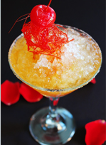 Crushed ice cocktail
