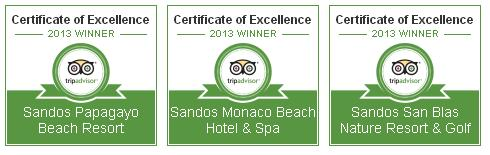 Sandos Hotels awarded TripAdvisor Certificate of Excellence