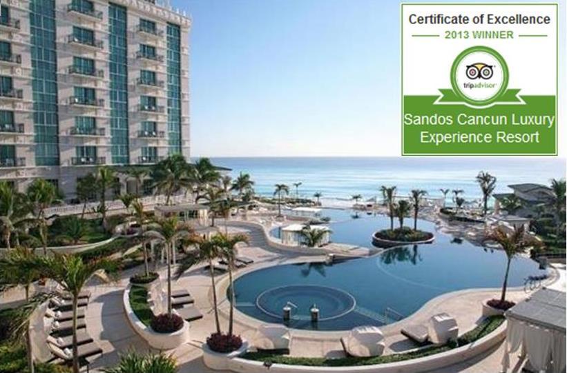 Sandos TripAdvisor Certificates of Excellence