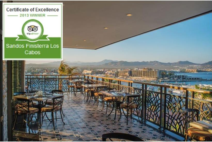 Certificate of Excellence for Sandos Los Cabos