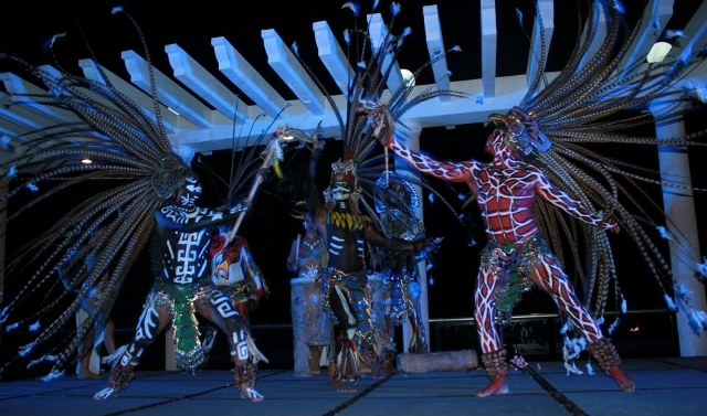 Traditional warrior dance