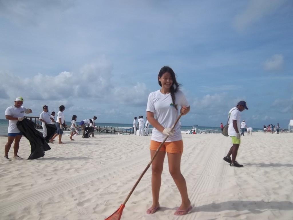 Limpiamos las costas de Playa del Carmen