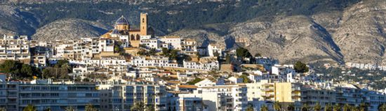 Altea, part of the route by car to the Costa Blanca