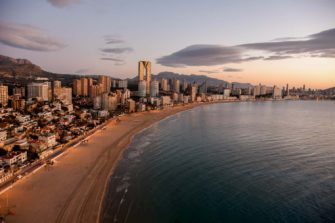 Benidorm,  the end of the route by car to the Costa Blanca