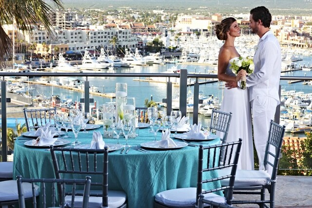 Romantic wedding view