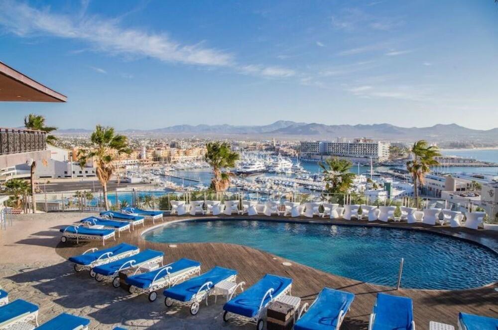 Cabo San Lucas resort pool city view