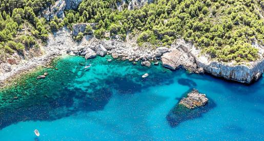 Cala d'Aubarca island of Ibiza