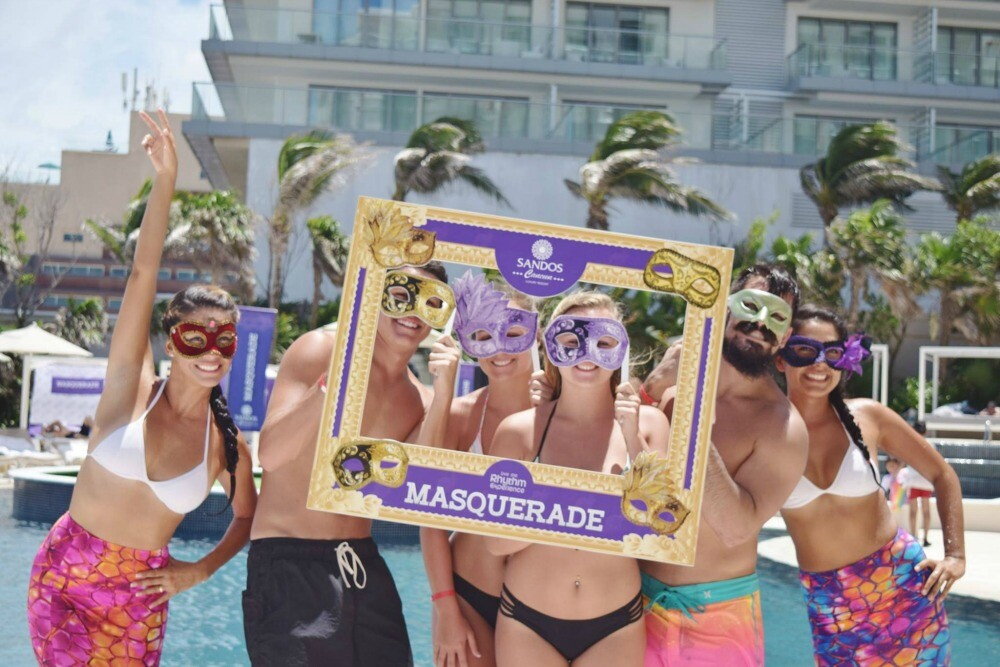 Cancun masquerade party