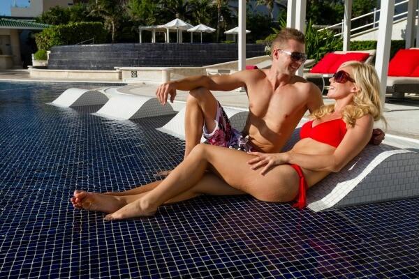 Cancun luxury resort pool
