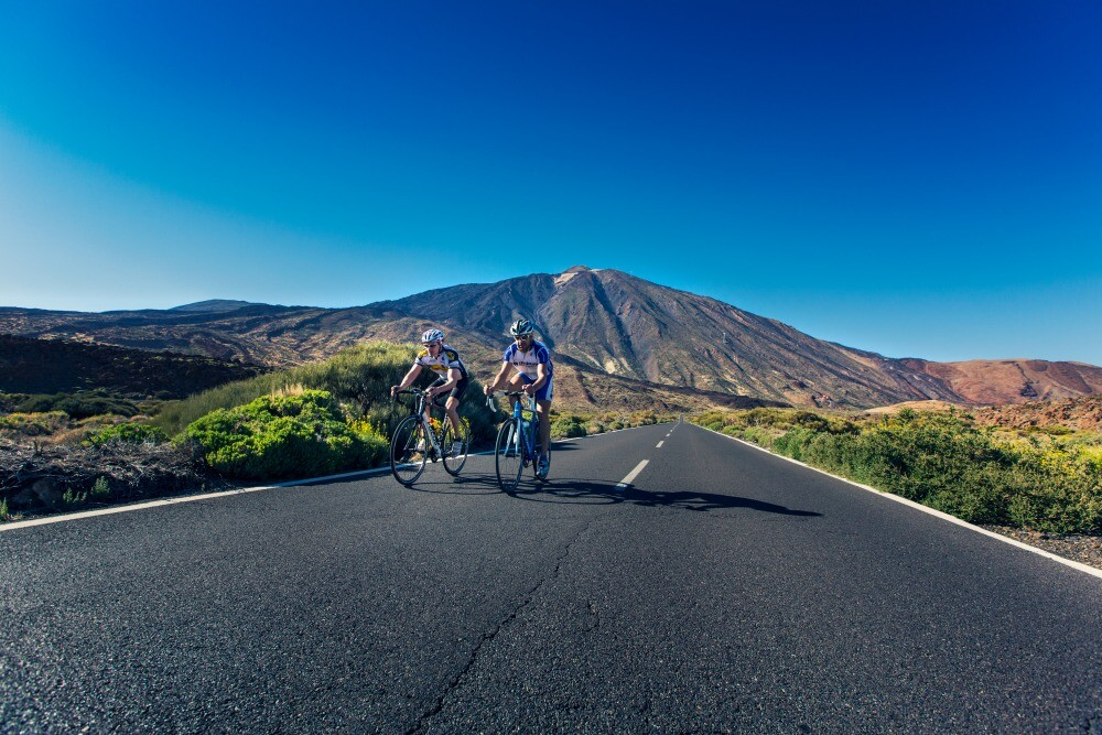 Cycling tourism in Tenerife Canary Islands