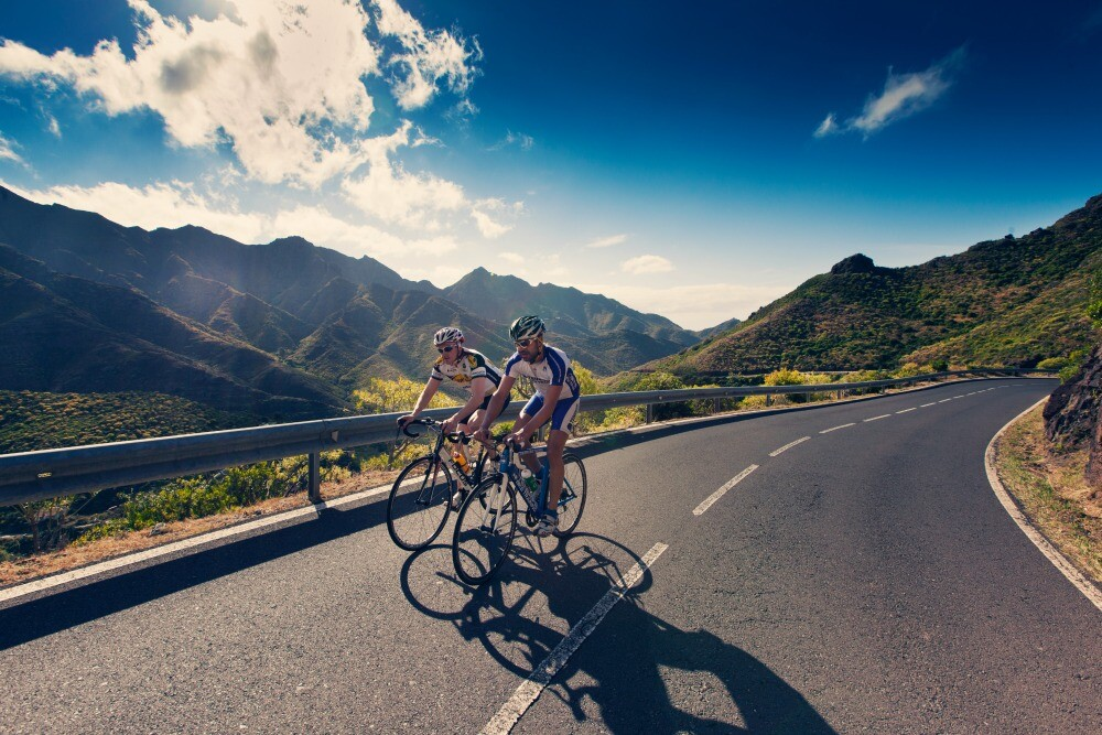 Cycling route in Tenerife Canary Islands