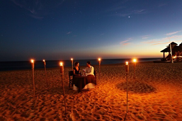 Dinner on the beach Los Cabos