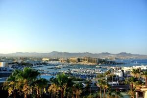 Downtown Cabo San Lucas marina view