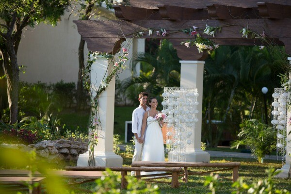 jardín de bodas en Playa del Carmen