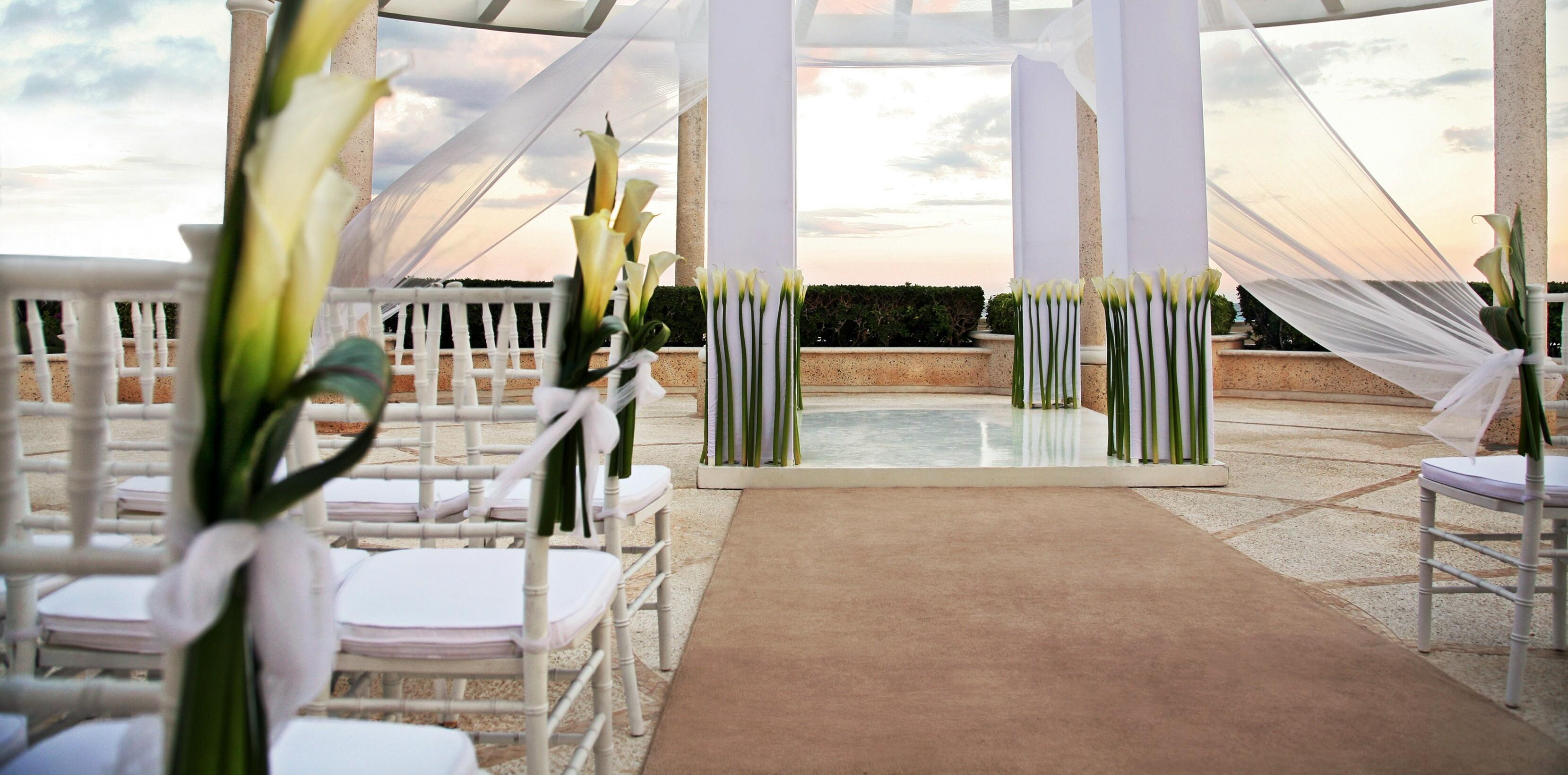 Sandos Caracol Resort Wedding Ocean View