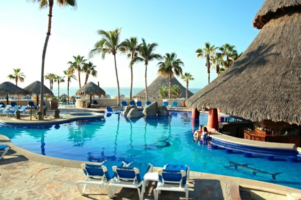 Los Cabos resort swim up bar