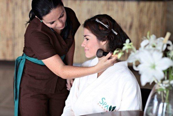 visitando masaje hermoso