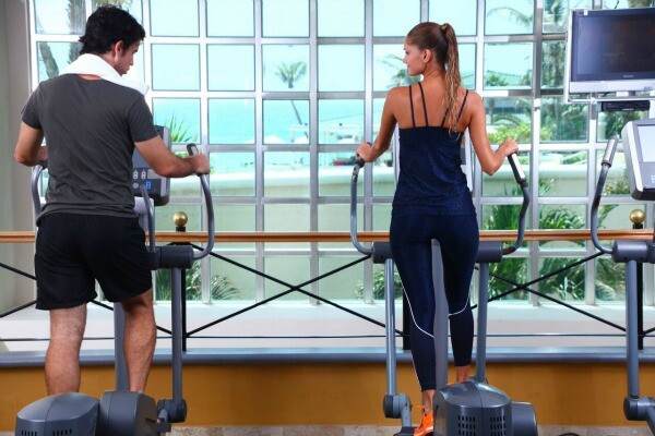 Ocean view gym Cancun