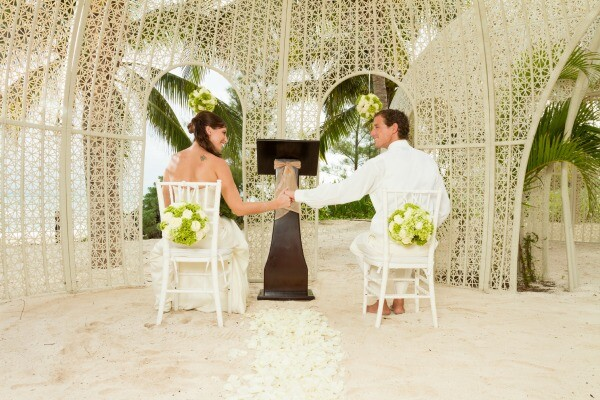 Playa del Carmen beach wedding gazebo