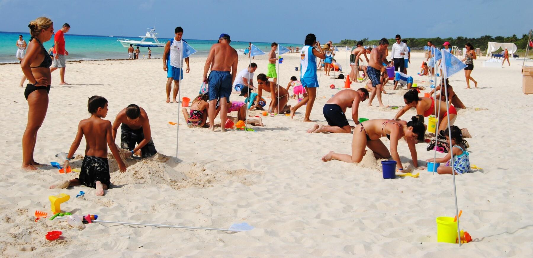 Playa del Carmen sandcastles
