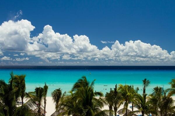 Playacar beach ocean view