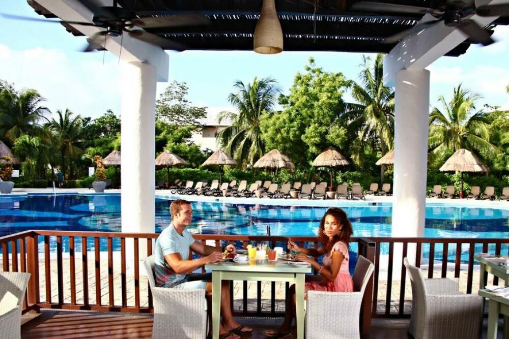 Riviera Maya  poolside restaurant