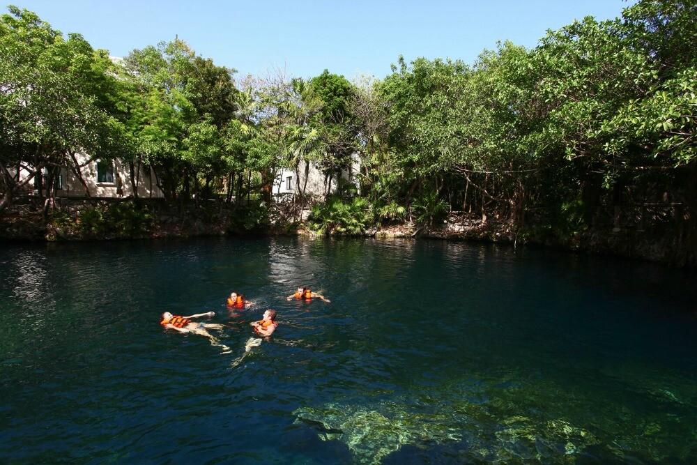 Riviera Maya resort cenote
