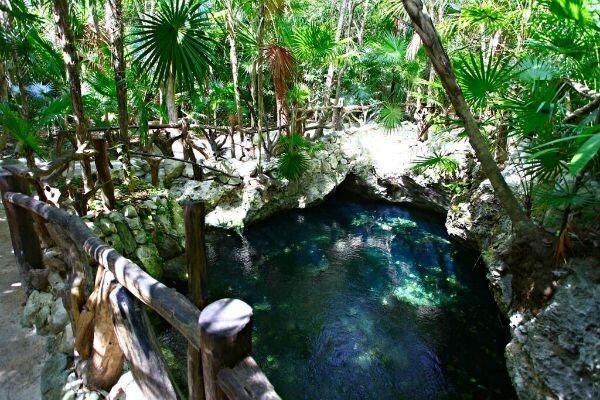 Cenote en la Riviera Maya
