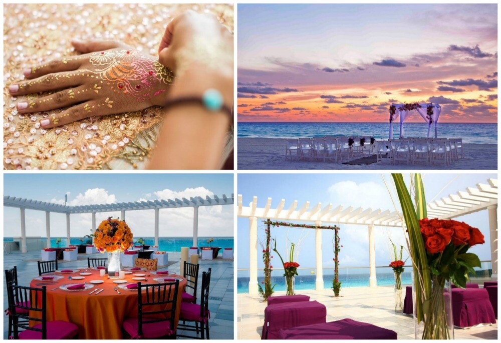 Sandos Cancun beach destination wedding