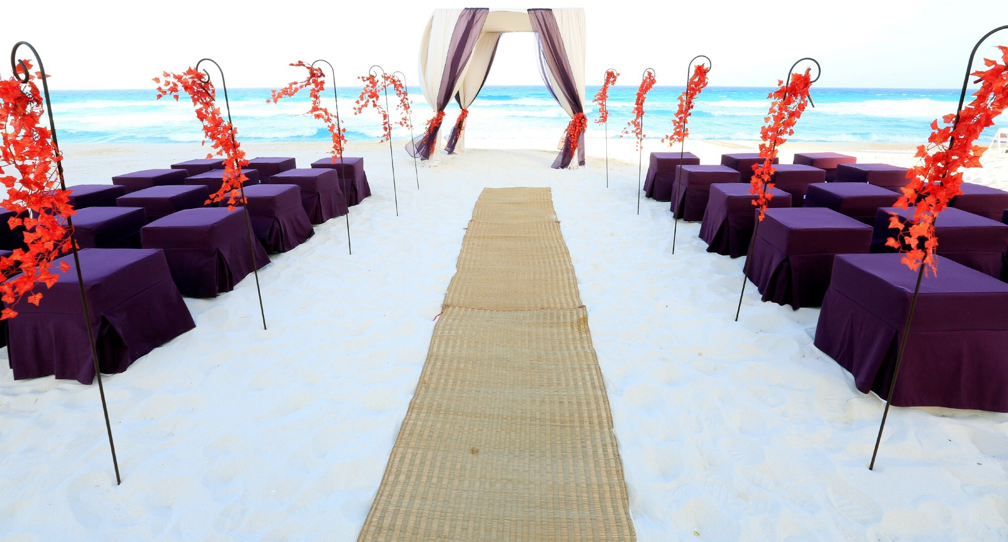 Sandos Cancun destination beach wedding resort