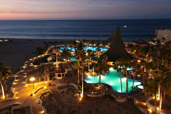 Sandos Finisterra Los Cabos Resort beach sunset