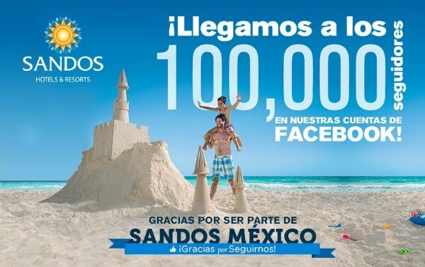 Sandos Mexico resort todo incluido Facebook