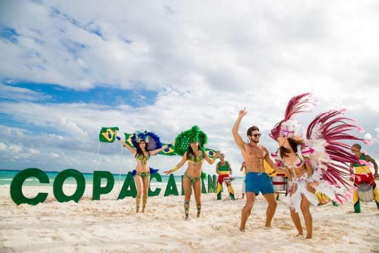 Sandos Playacar Brazilian beach party