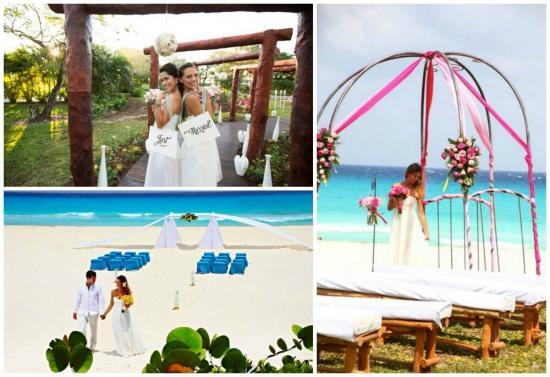 Sandos Playacar beach destination wedding