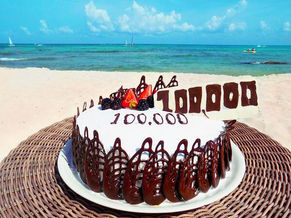 Sandos resorts Facebook followers cake