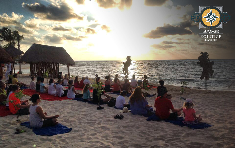 Sunrise meditation on the beach