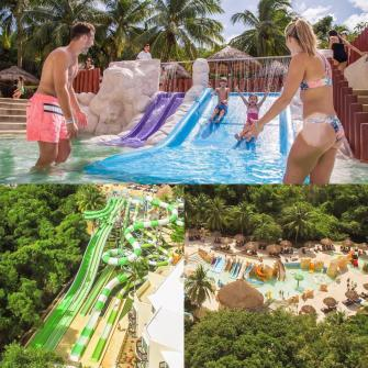 The Aqua Park is one of the main attractions at the resort.