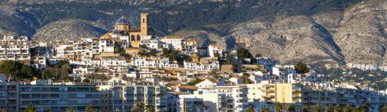 Pueblo de Altea, en Alicante.
